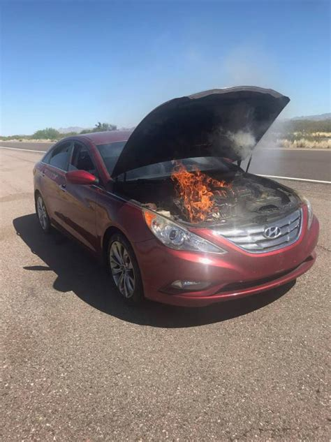 The curtain side airbags on these vehicles may inflate without deployment command due to an error during manufacturing. 2012 Hyundai Sonata Engine Fire: 4 Complaints