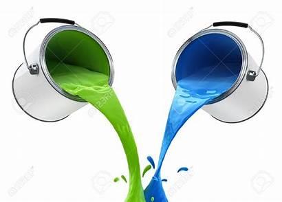 Paint Clipart Pouring Bucket Colour Illustration Mix