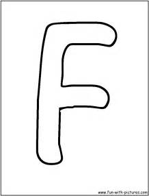 F Bubble Letters Coloring Pages