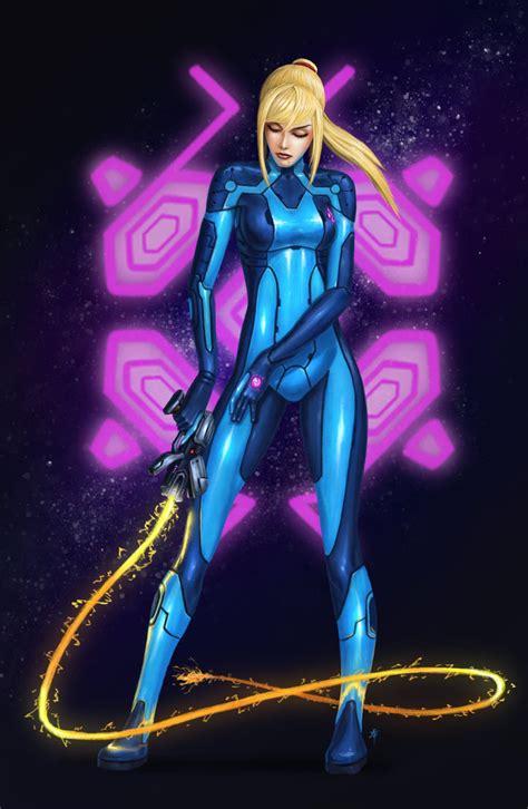 samus aran zero suit by rob powell on deviantart