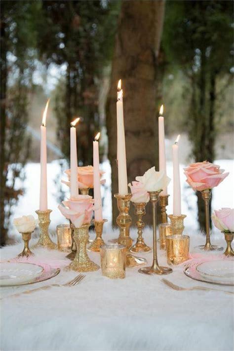 romantic pink  gold wedding color scheme ideas