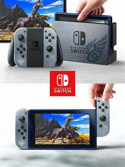 Switch Nintendo Hunter Monster Theme Designs Zelda