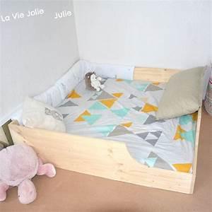 Lit Enfant Sol : fabriquer un lit montessori matelas lit pliable literie ~ Nature-et-papiers.com Idées de Décoration