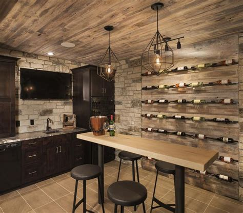 bars wine cellars images  pinterest cellar