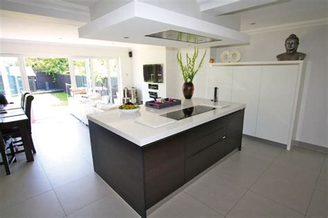 Kitchen Island Ceiling Extractor  Contemporary  Kitchen