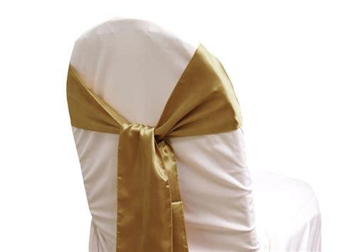 satin chair sash gold wedding superstore large range