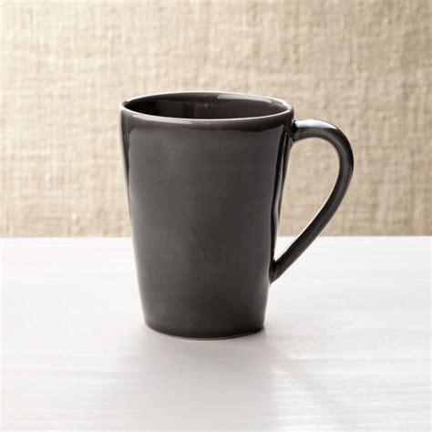 Dark Grey Stoneware Coffe Mug   Reviews   Crate and Barrel