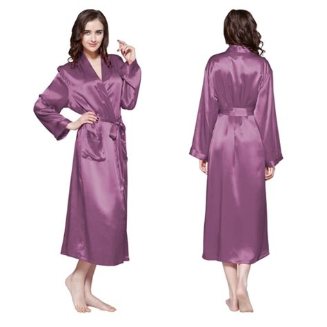 robe de chambre en soie pour femme robe de chambre en soie longue classique