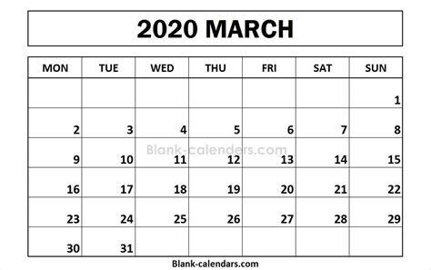 blank march calendar  template  images calendar