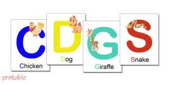 printables alphabet flash cards with animals printable pdf
