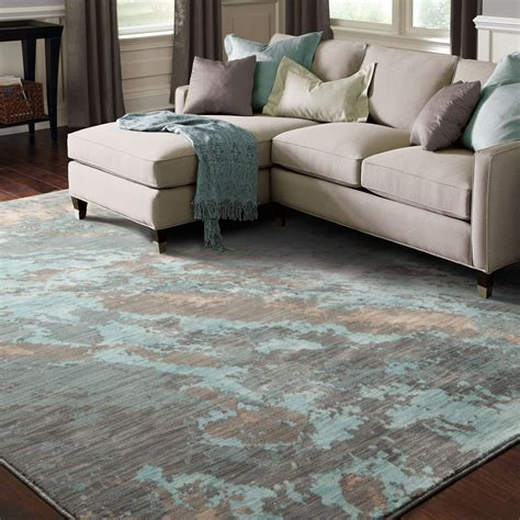 Teal And Gray Area Rug by The Conestoga Trading Co Agave Marble Teal Gray Area Rug