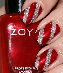 Red & Silver | Pretty Nails | Pinterest