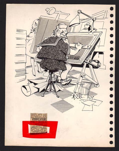 si e dessinateur dessin original humoristique à l 39 encre de 1960 le