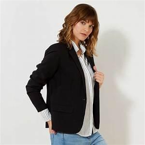 Video Bouton Noir : veste de tailleur 1 bouton femme noir kiabi 25 00 ~ Medecine-chirurgie-esthetiques.com Avis de Voitures