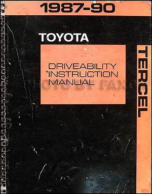 1986 Toyota Tercel Service Repair Shop Set Oem Service And The Electrical Wiring Diagrams Umlcomponentdiagram Enotecaombrerosse It