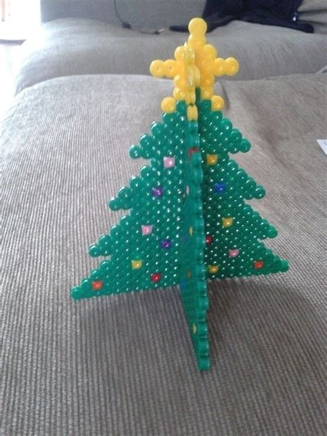 christmas tree bead hama 3d pegboard projects