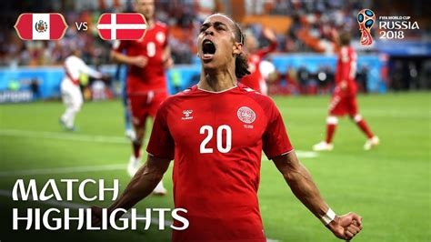 Peru Denmark Fifa World Cup Russia Match