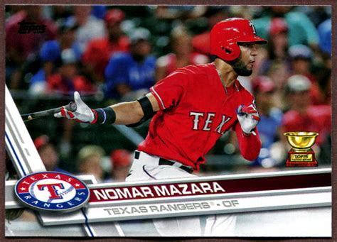 2017 Topps Texas Rangers Baseball Cards Team Set