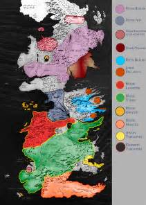 Houses Game of Thrones Westeros Map Detailed