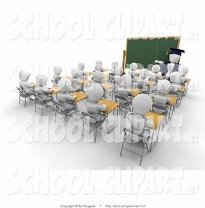 High School Students In Classroom Clipart