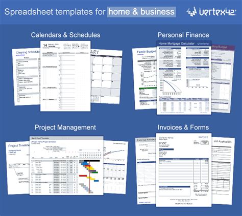 vertex excel templates calendars calculators