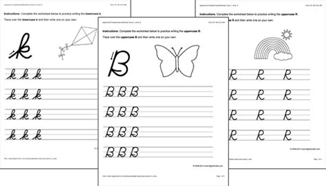 handwriting printouts