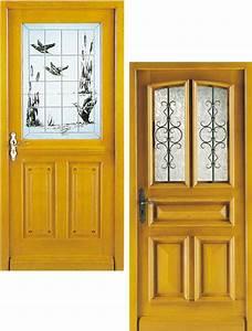 Pose Porte D Entrée : vente et pose de votre portes d 39 entr e bois menuiserie ~ Melissatoandfro.com Idées de Décoration