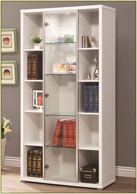 bookshelves  glass doors door  home design ideas
