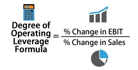 degree  operating leverage formula calculator excel