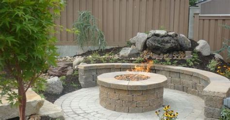 great circular paver patio kit with large outdoor