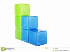 Diagram Made Of Plastic Building Blocks Royalty Free Stock