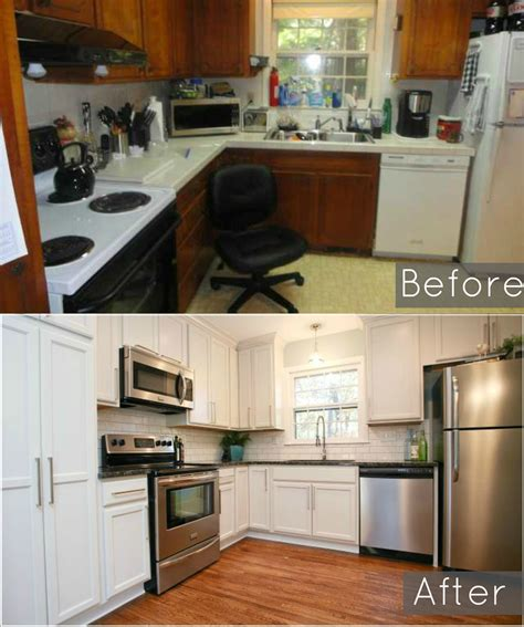Before And After Of Our Ugly 1960s Split Level Kitchen