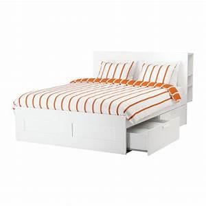 Ikea Lit 180x200 : brimnes cadre de lit rangement t te de lit 140x200 cm ikea ~ Teatrodelosmanantiales.com Idées de Décoration
