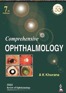 Comprehensive Ophthalmology 7th Edition Pdf