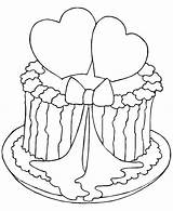 Coloring Cake Valentine Place sketch template