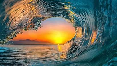 Ocean Wave Mare Sunset Waves Water Sea