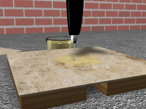Tips Drilling Through Porcelain Tiles by How To Drill Ceramic Tile 7 Easy Steps With Pictures