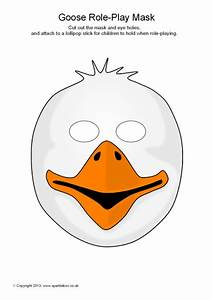 goose role play masks sb9257 sparklebox With swan mask template