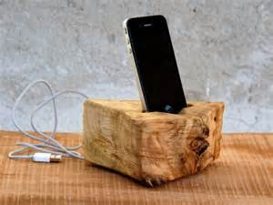 Wooden iPhone Charging Station