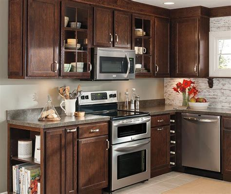 umber cabinets oak kitchen aristokraft cabinetry cabinet