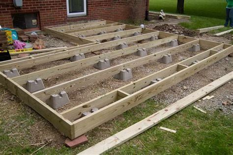 Deck Footing Spacing Australia by Frame Foundation With Block Deck This Is What We Would