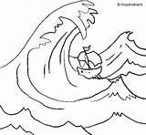 Tsunami Coloring Wave Drawing Coloringcrew Getdrawings sketch template