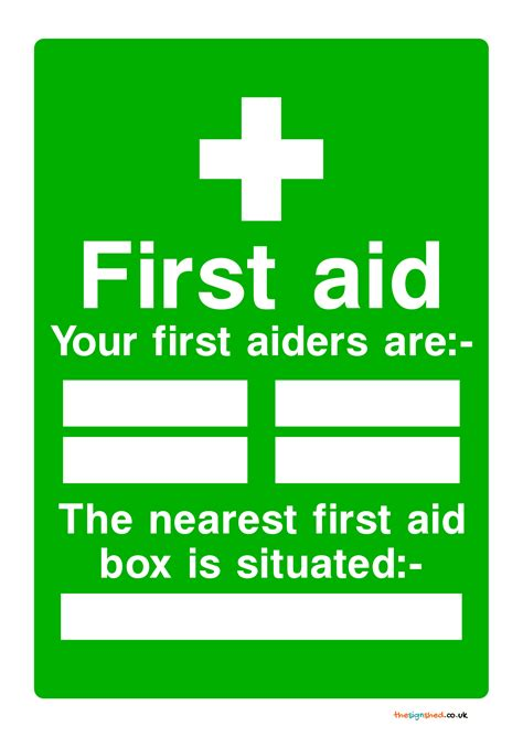 aid box signs poster template