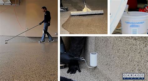 garage floor paint application floortex a garage floor coating you can have applied year round