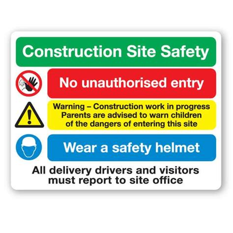 construction site safety sign xmm