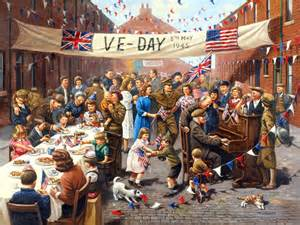 eclectic scriptorium victory in europe day v e day or ve day