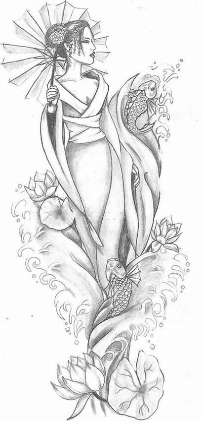 Geisha Tattoo Dibujo