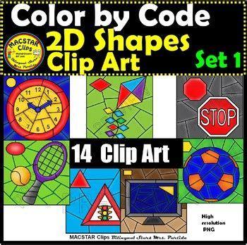 shapes color  code clip art set  images geometry