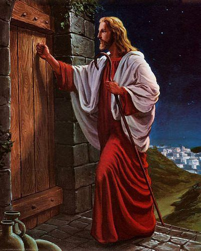jesus knocking at the door knocks at the door of your disciples of
