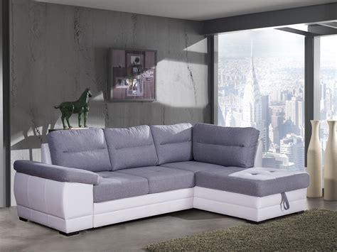 canapé blanc tissu canapé d 39 angle convertible contemporain en tissu gris pu